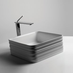 Trace Ceramic Square Vessel Bathroom Sink ByWS Bath Collections