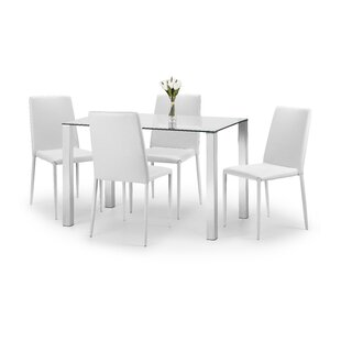 Wickersham Dining Set With 4 Chairs By Metro Lane