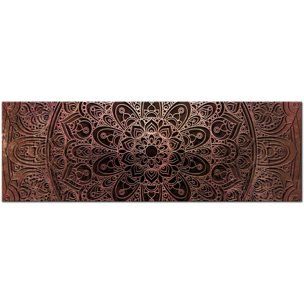 East Urban Home Mandala Amber Silence Graphic Art On Wrapped Canvas Wayfair Co Uk