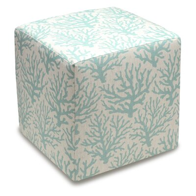 123 Creations Cube Ottoman Color Aqua