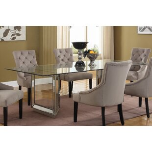 Mirrored kitchen dining tables youll love wayfair nicolette dining table watchthetrailerfo