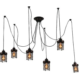 Bray 6-Light Cluster Pendant by CWI Lighting