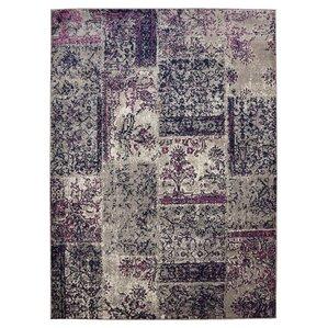 travis floral patchwork graypurple area rug