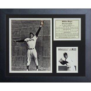 Willie Mays The Catch Framed Memorabilia ByLegends Never Die