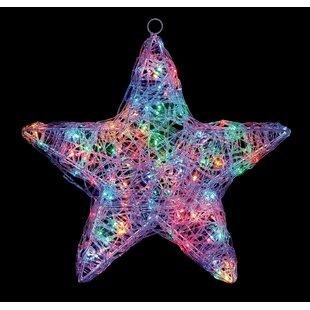 120 Purple LED Lit Soft Acrylic Star Lighted Window Décor By The Seasonal Aisle