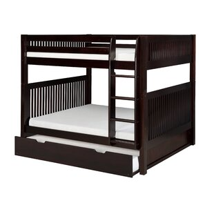 Oakwood Natural Twin Bunk Bed with Trundle by Harriet Bee