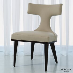 Anvil Back Leather Side Chair