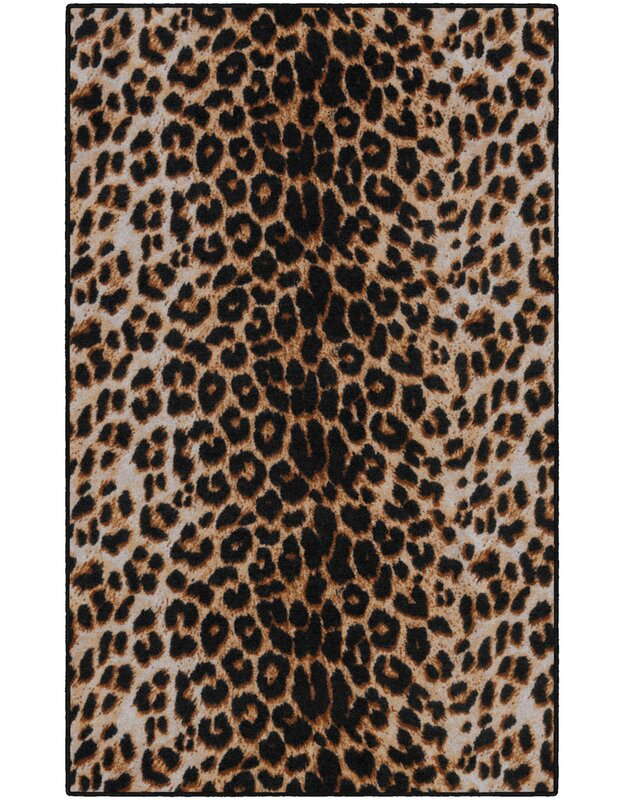World Menagerie Lassiter Print Brown/Black Area Rug, Size: Rectangle 76 x 10