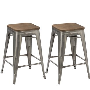 24 Stackable Bar Stool (Set of 2)