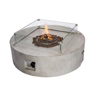 Concrete Propane Gas Fire Pit