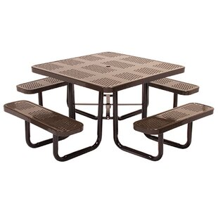 Modena Metal Picnic Table by Leisure Craft