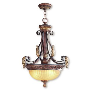 Astoria Grand Scottdale 3-Light Bowl Pendant