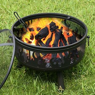 Steel Wood Burning Fire Pit by Adeco Trading