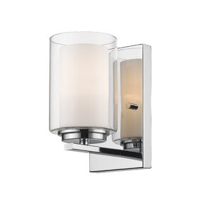Horizontal Bathroom Sconces chrome sconces you'll love | wayfair