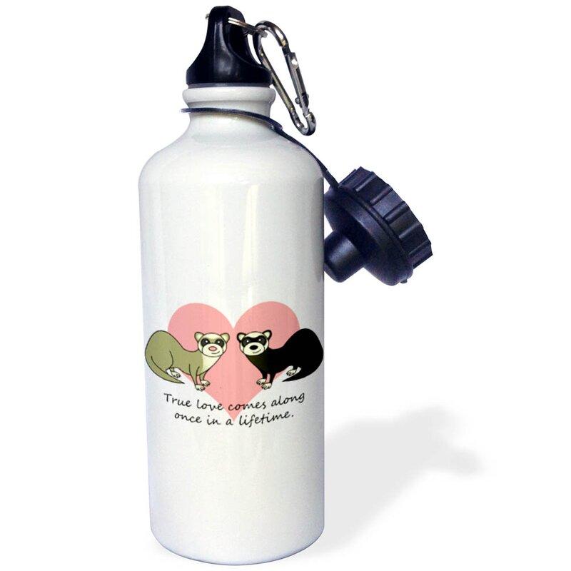 3drose True Love Comes Along Once In A Lifetime Cute Ferret Love Design 21 Oz Stainless Steel Water Bottle Wayfair