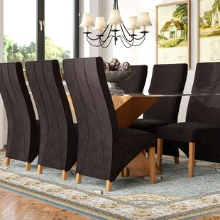 Ediz   Oak Glass Dining Set With 6 Chairs By Ebern Designs