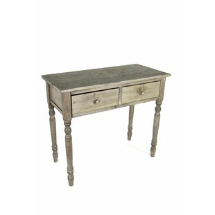 Clinchport Recycled Pine 2-Drawer Writing Desk