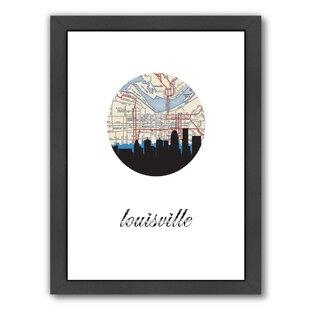 Louisville wayfair paperfinch designs louisville map skyline framed graphic art solutioingenieria Gallery