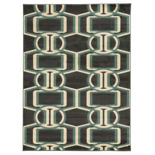 Shop For Patridge Chocolate/Turquoise Area Rug By Wrought Studio