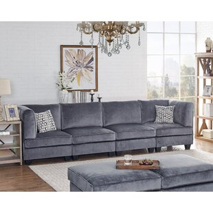 Compare & Buy Avis Modular Velvet Four Seated Sofa by Ivy Bronx Reviews (2019) & Buyer's Guide