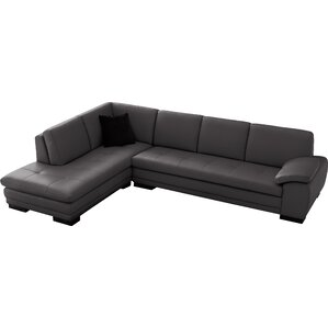Jerald Leather Sectional  sc 1 st  Wayfair : leather sectional with chaise - Sectionals, Sofas & Couches