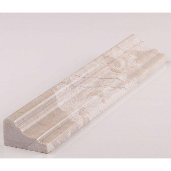 Cordelio 12 X 1 9 Honed Marble Chair Rail Tile Trim In Diana Royal Wayfair