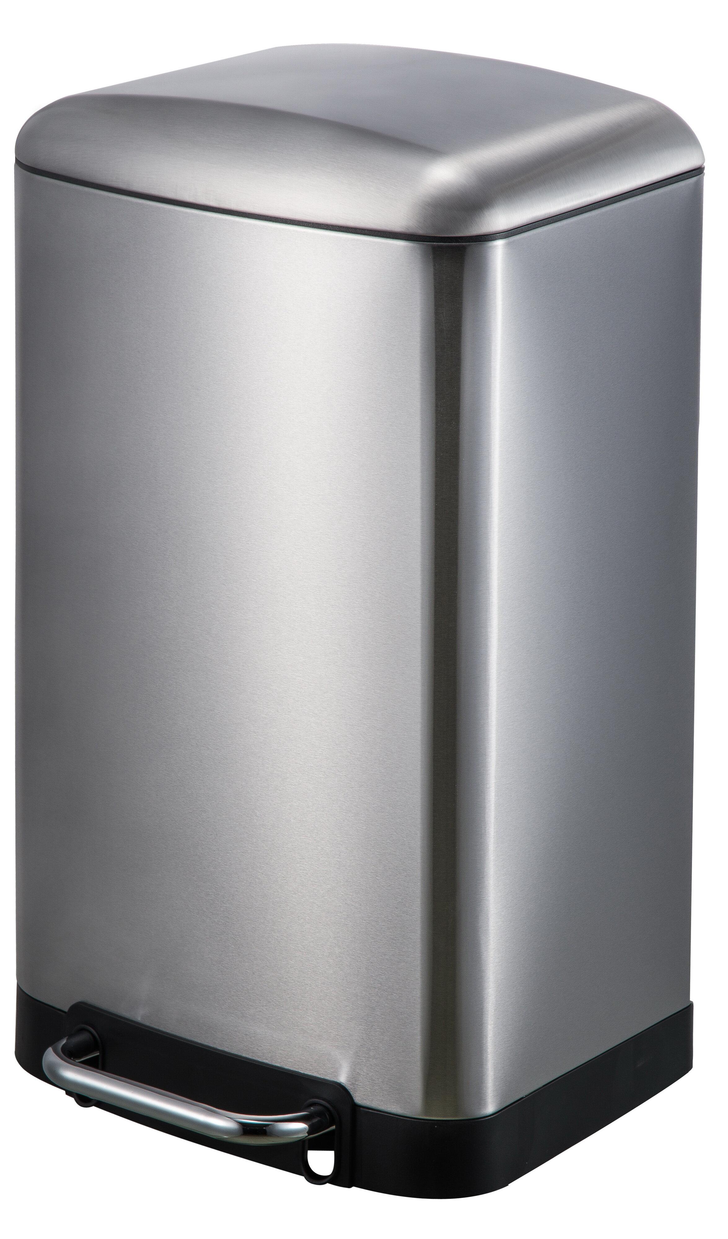 JoyWare Stainless Steel 8 Gallon Step On Trash Can & Reviews | Wayfair