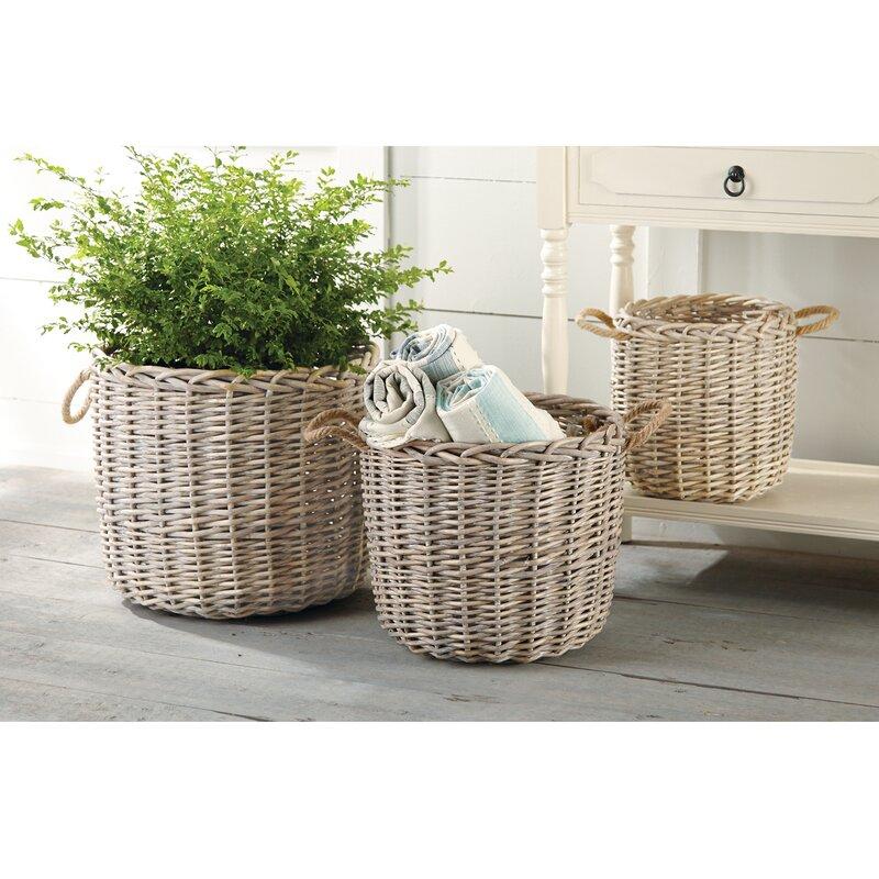 wicker basket set