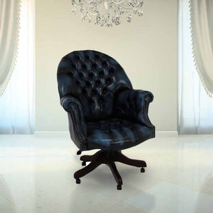 Chaffee Leather Executive Chair By Ophelia & Co.
