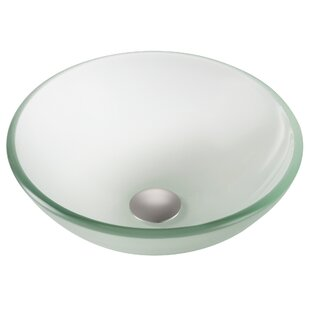 Top Reviews Frosted Glass Circular Vessel Bathroom Sink ByKraus