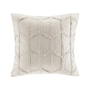 Frayed Geo Linen Throw Pillow
