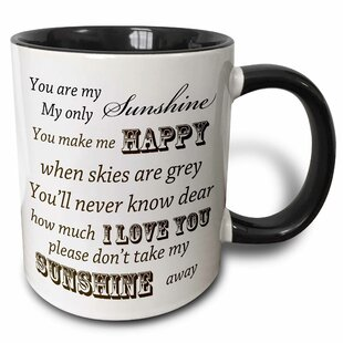 You Are My Sunshine Word Art Vintage Song Coffee Mug