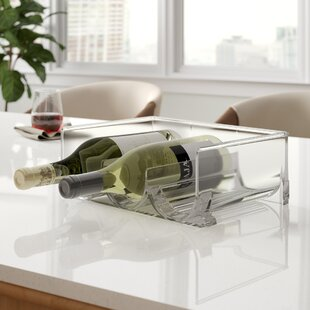 Brielle Stackable 3 Bottle Tabletop Wine Rack by Rebrilliant