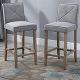 Ejder Solid Wood 29.25 Bar Stool (Set of 2) by Gracie Oaks