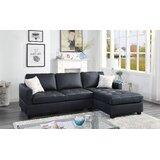 Casaleggio 102'' Faux Leather Right Hand Facing Sofa & Chaise by Latitude Run®