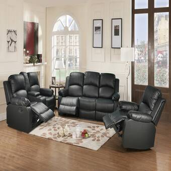 Latitude Run Allinson 3 Piece Reclining Living Room Set Wayfair