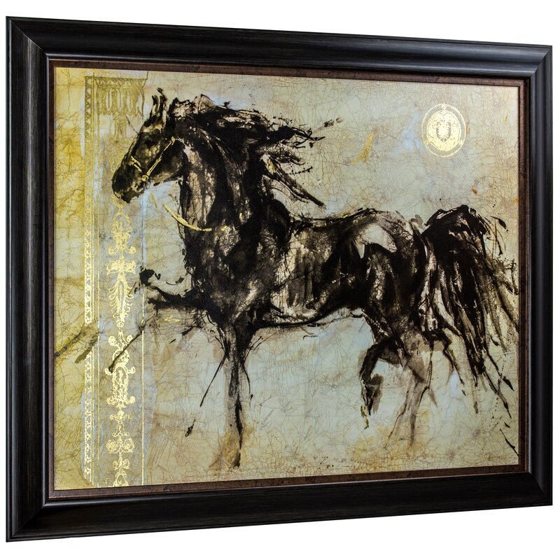 Alcott Hill \'Lepa Zena Horse Sketch\' Framed Graphic Art Print on ...
