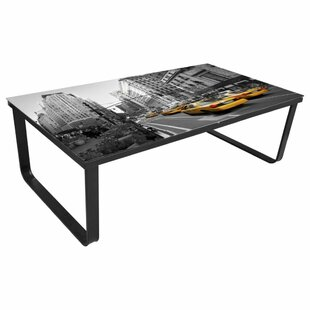 Winchelsea Print On Glass Coffee Table By 17 Stories