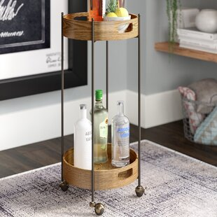 Ginnie 2-Tier Round Bar Cart by Williston Forge