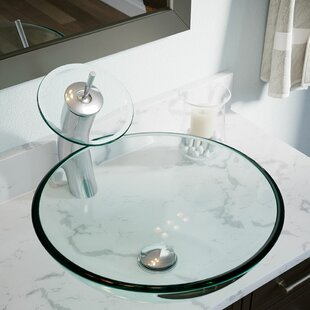 MR Direct Tempered Glass Circular Vessel Bathroom Sink