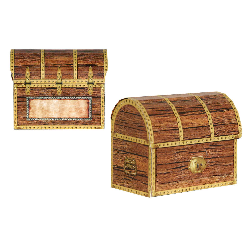The Beistle Company 4 Piece Pirate Treasure Chest Favor Decorative Box Centerpiece Wayfair