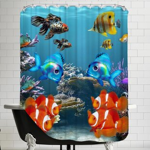 Fish Style Single Shower Curtain