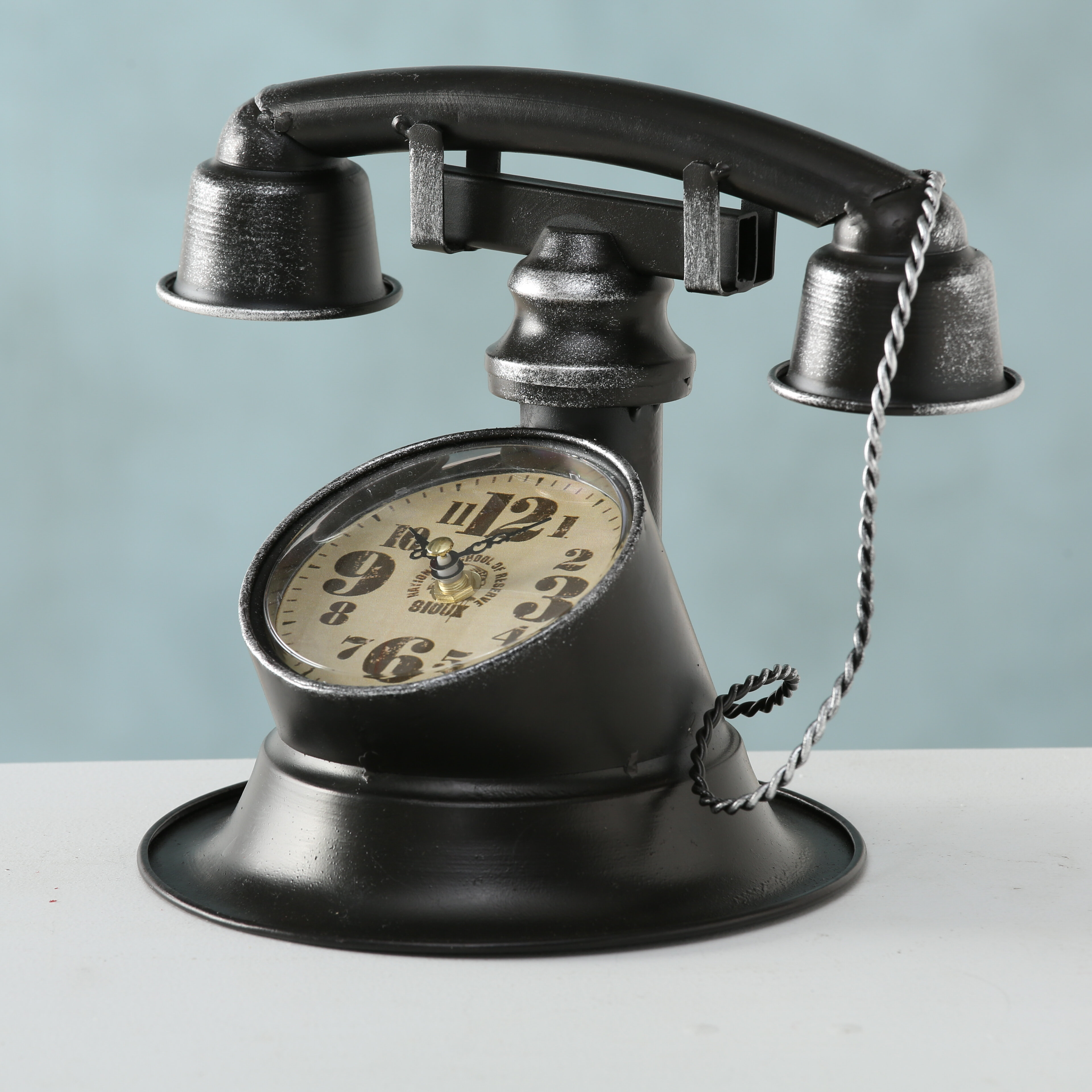 Williston Forge Retro Telephone Table Clock Wayfair