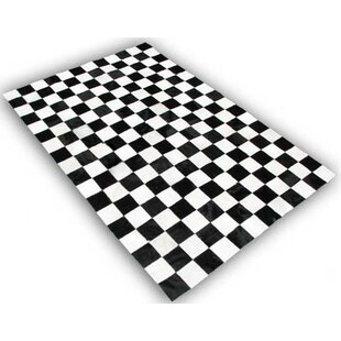 Inexpensive Theim Patchwork Hand-Woven Cowhide Black/White Area Rug By Orren Ellis