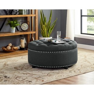 Camas Tufted Storage Ottoman by Charlton Home
