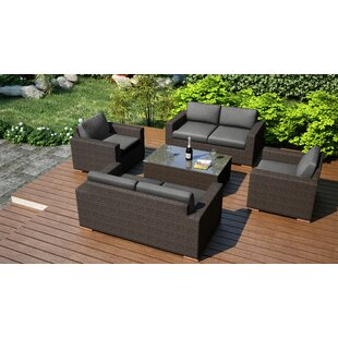 Hodge 5 Piece Double Sofa Set with Cushions