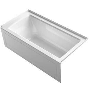 Archer Alcove VibrAcoustic Bath with Integral Apron, Tile Flange and Right-Hand Drain by Kohler