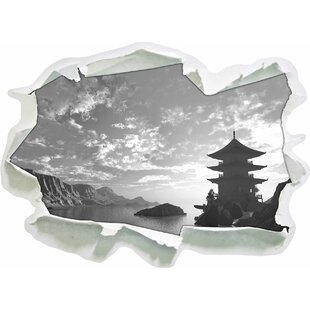 Review Amazing Temple In A Large Valley Wall Sticker
