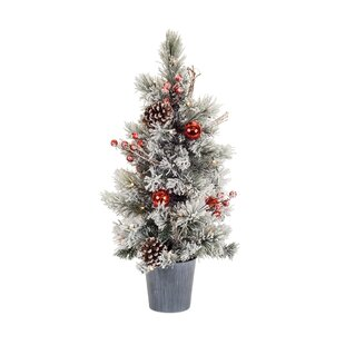 mini tree with lights potted 295h artificial christmas tree