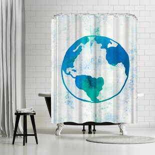East Urban Home Leah Flores Earth Day Shower Curtain